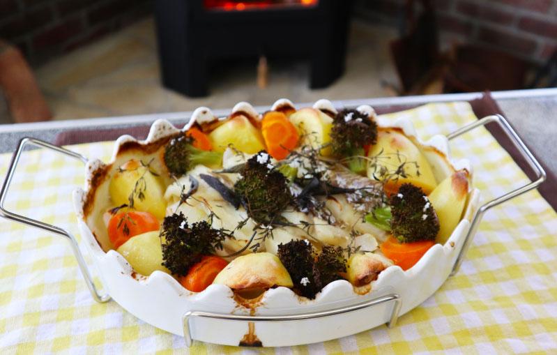 薪ストーブ 蒸し料理