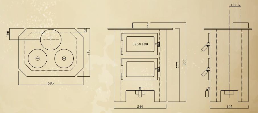 エイトノットストーブ BQ-ドーター 設計図