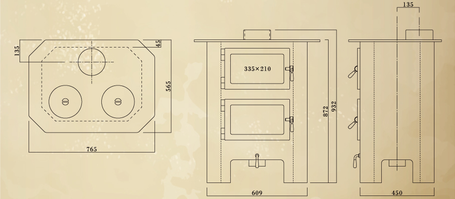 エイトノットストーブ BQ-MAMAS 設計図