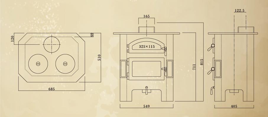 エイトノットストーブ ドーター 設計図