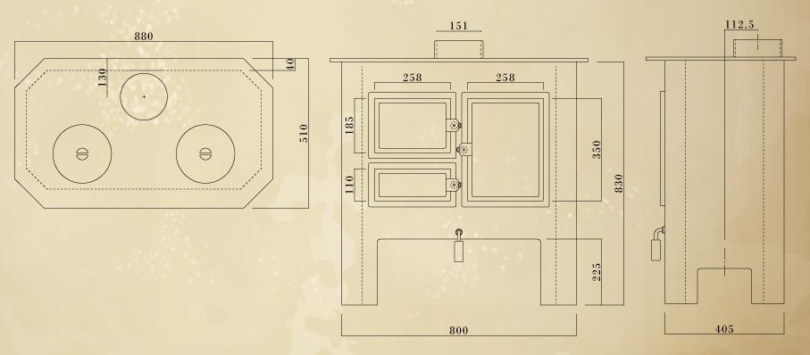 エイトノットストーブ e-plus 設計図