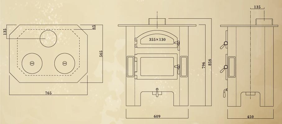 エイトノットストーブ ママス 設計図