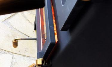 エイトノットストーブ 半ドア機能 実際に使っている様子