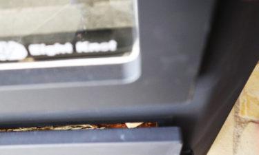 エイトノットストーブ 半ドア機能 上からの写真