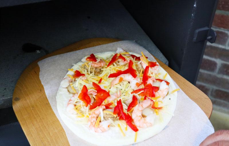 薪ストーブ ピザ 手順