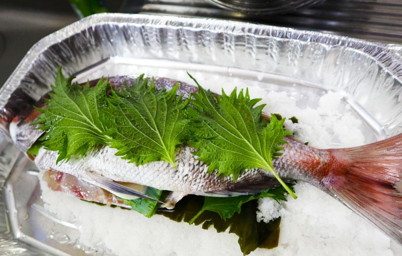 鯛の塩窯焼き レシピ