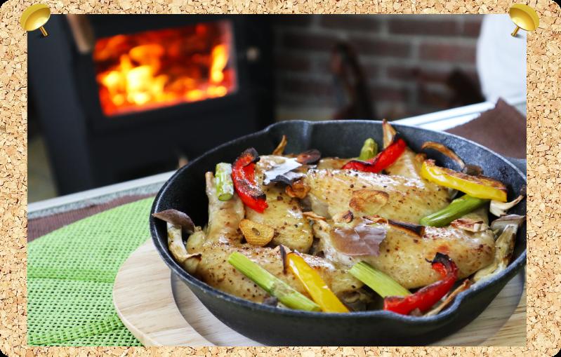 薪ストーブレシピ 鶏の手羽焼き
